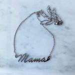 White Fox Collective WFC Mama Neclace-White Gold