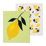 FT Pembroke Swedish dish cloth - lemon (2 pack)