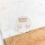 Prep Obsessed Heart Beat Earrings- Prep Obsessed