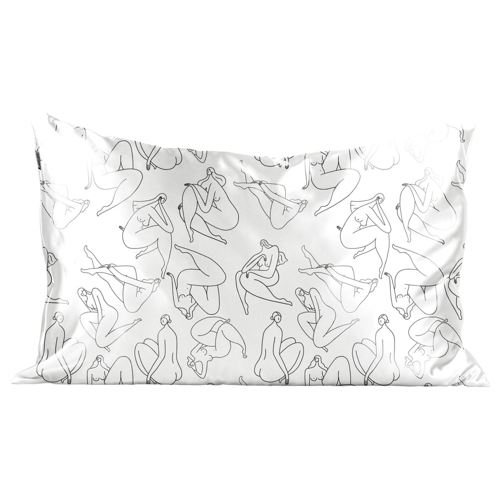 Kitsch Satin Pillowcase - Nude body