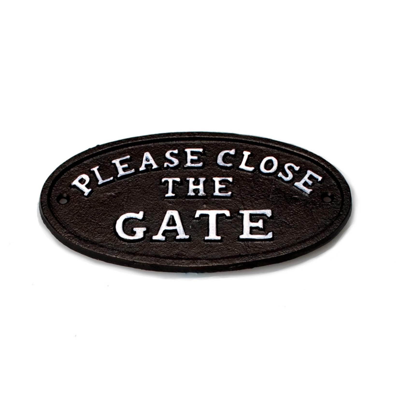 FT Pembroke Please close the gate cast iron sign