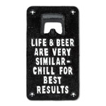 FT Pembroke Life and Beer Wall Bottle Opener - cast iron sign