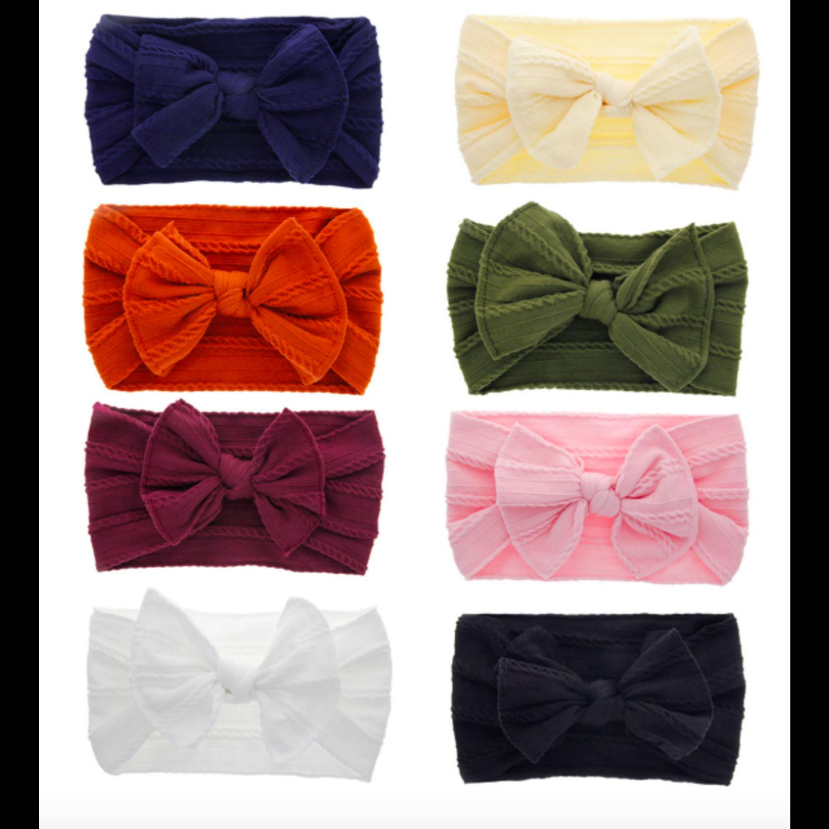 FT Pembroke Siena Soft Bow headband - Olive
