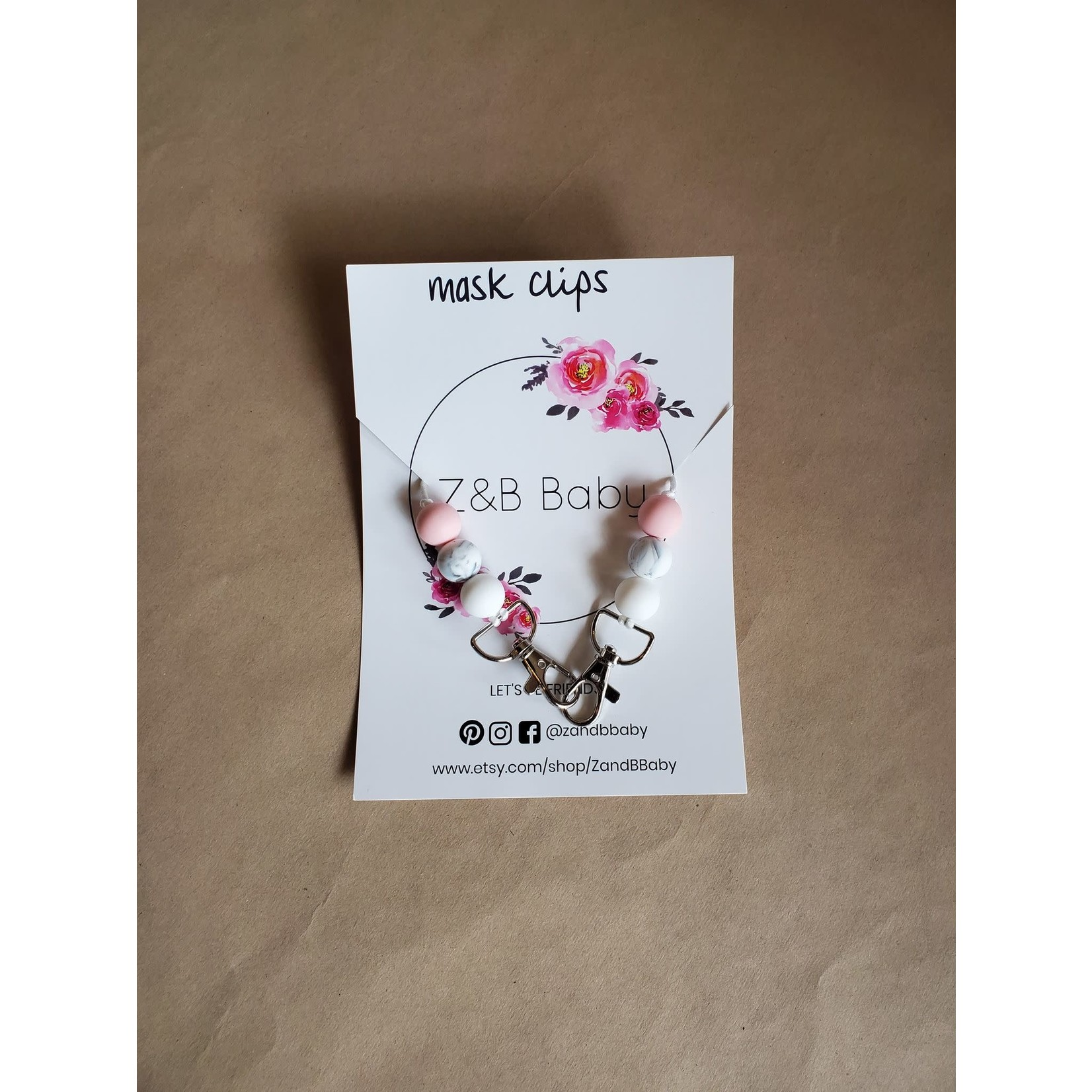 Z&B Baby mask clips - Pink
