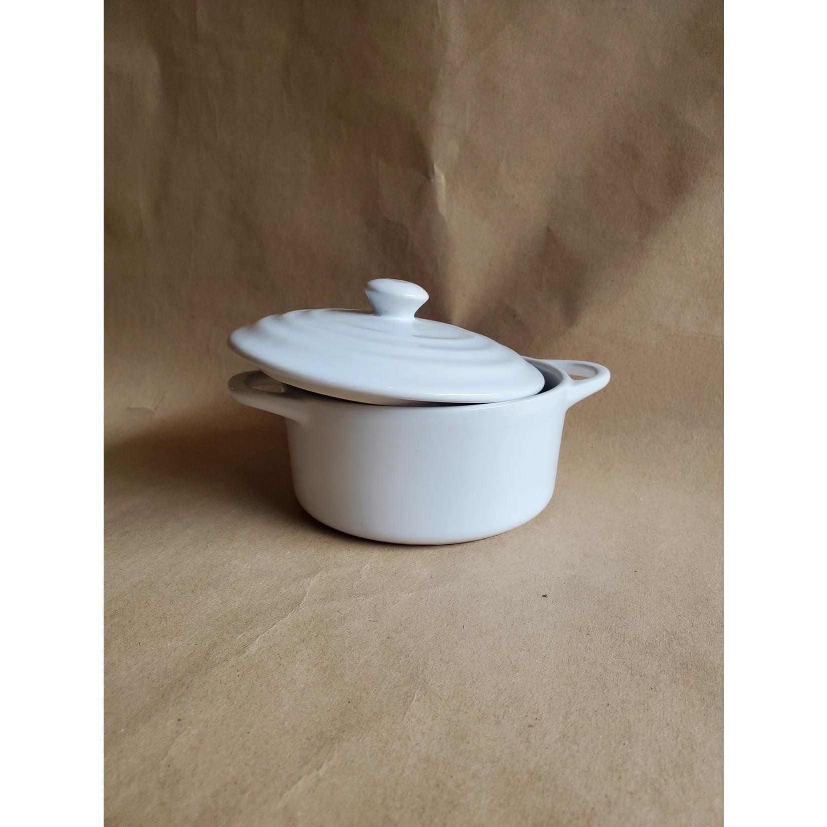 Small White ceramic pot