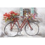 FT Pembroke Bicycle flower canvas