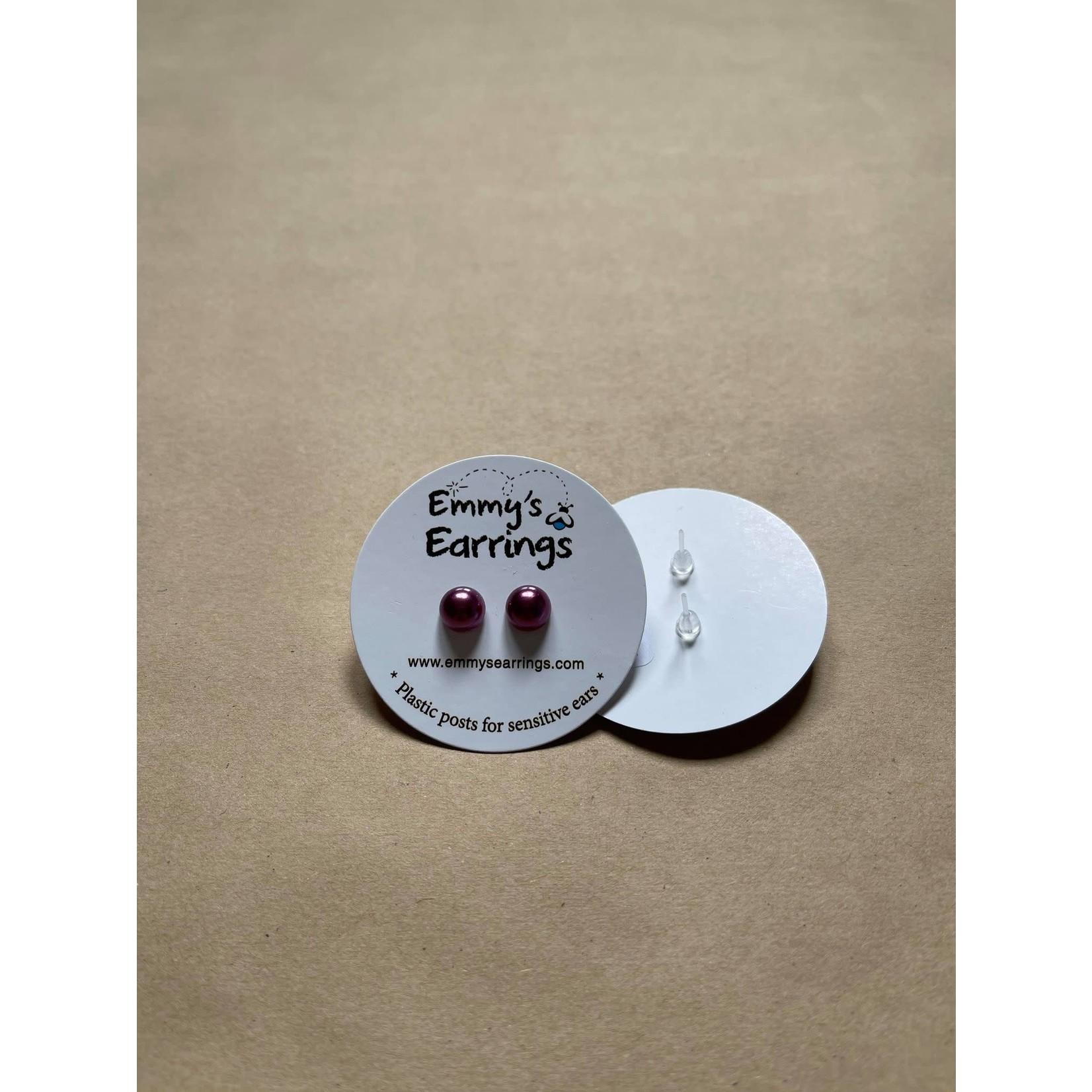 Emmy's Earrings Purple pearl Emmy's earrings