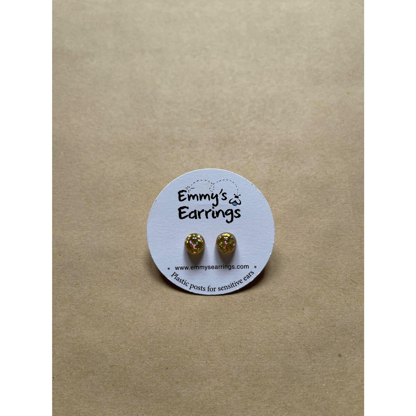 Emmy's Earrings Gold sparkly Emmy's earrings