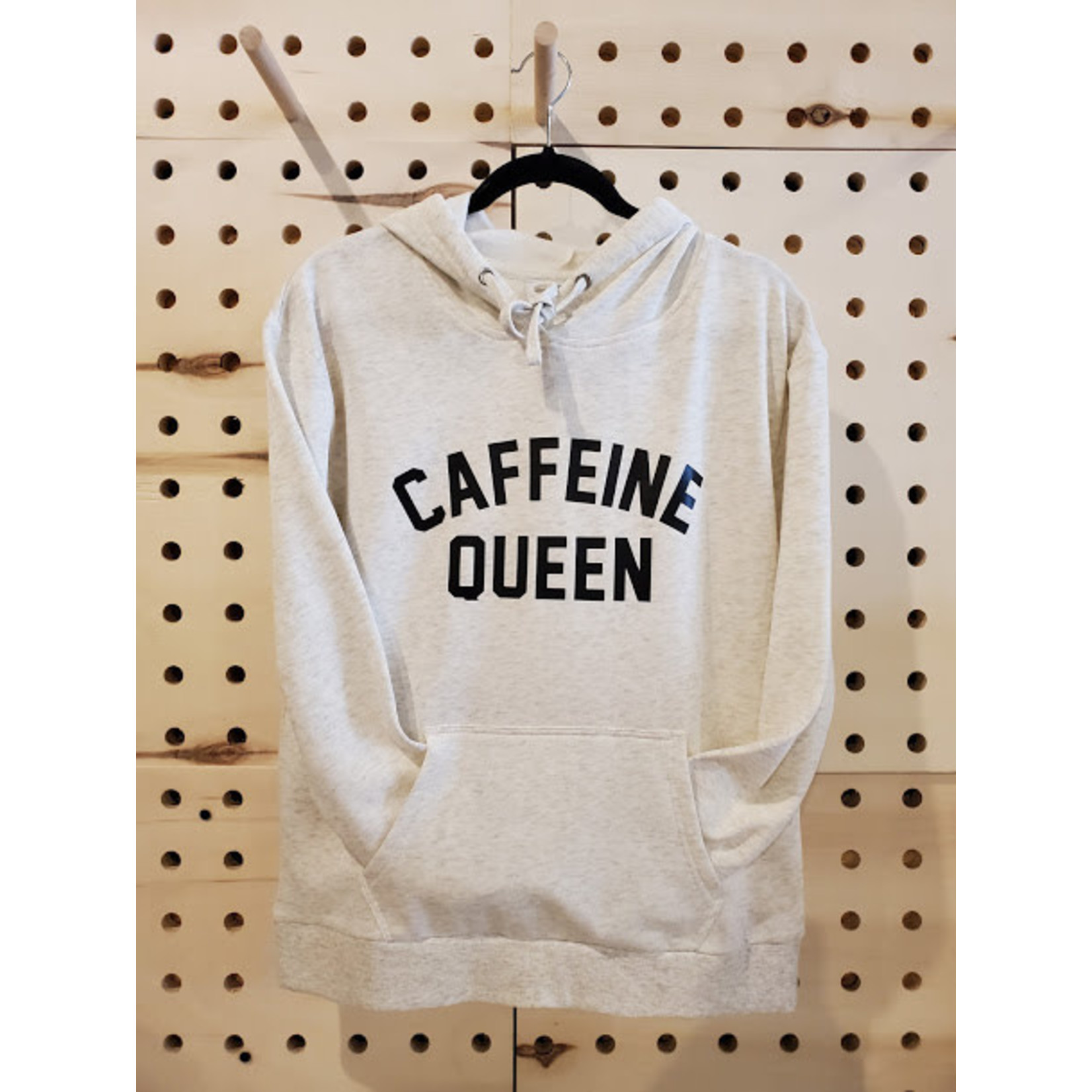 favourite things apparel Oatmeal Caffeine Queen Hoodie - small