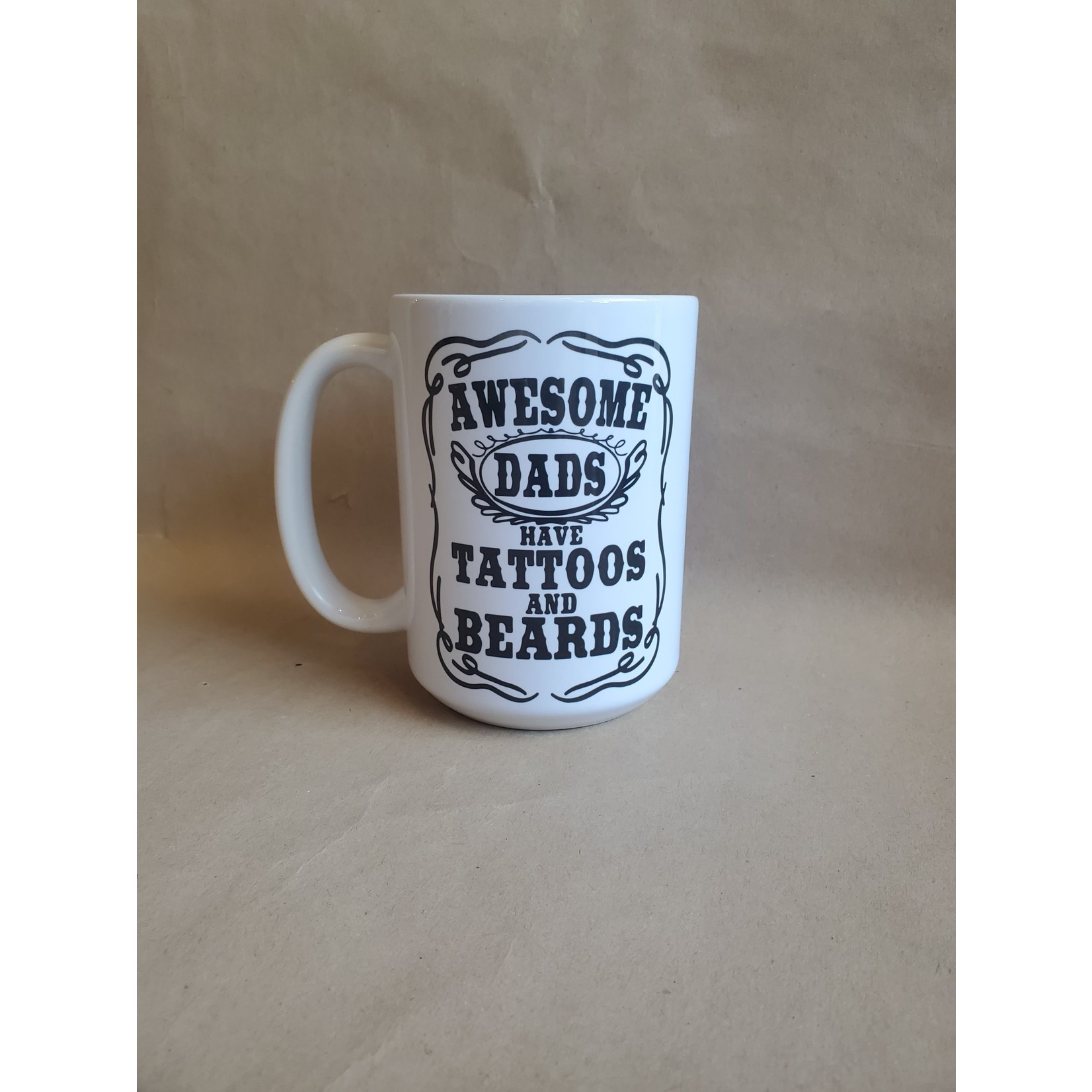 favourite things apparel Awesome Dad's Have Tattoo's & Beards mug