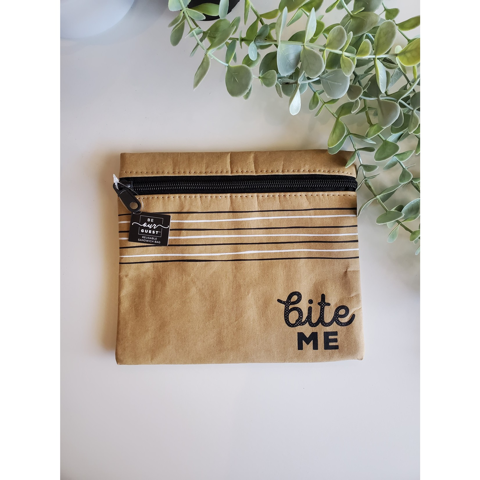Be Our Guest Kraft Paper Insulated Snack Bag - Bite Me