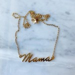 White Fox Collective WFC Mama Necklace-Gold