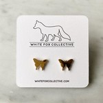 White Fox Collective WFC gold butterfly studs