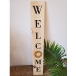 Favourite Things wood Welcome sign - Sunflower