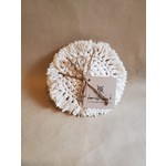 Dame with a Hook Natural set of 4 Handmade Coasters - DWAH