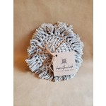 Dame with a Hook Mix of Grey (2) & Natural(2) Set of Handmade Coasters