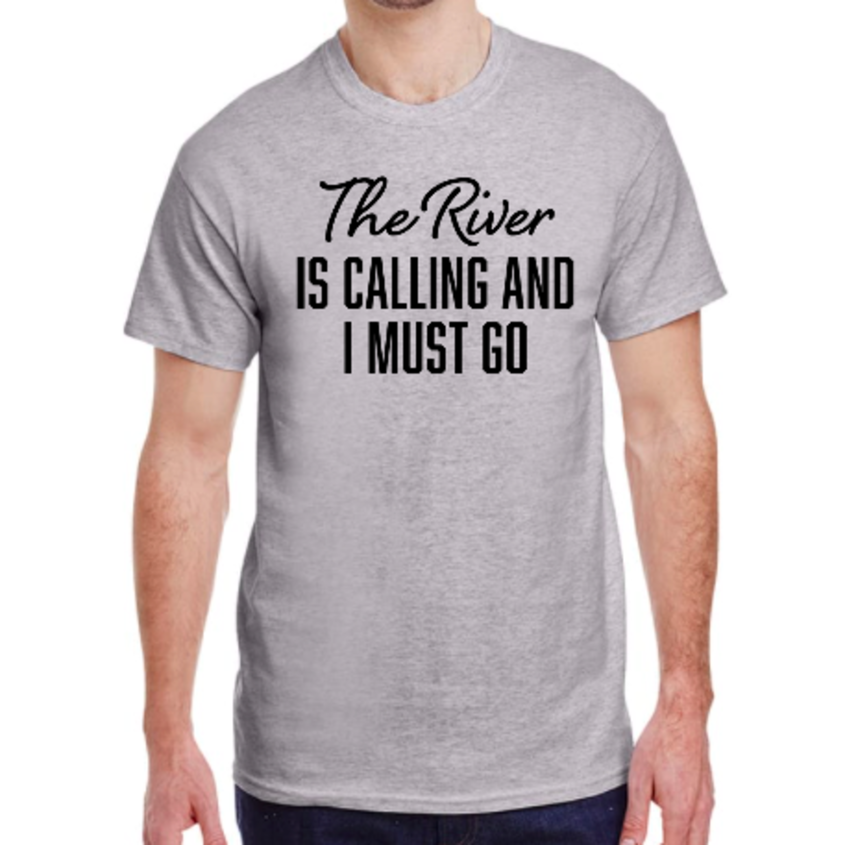 favourite things apparel Men's T-shirt: The river is calling me and I must go