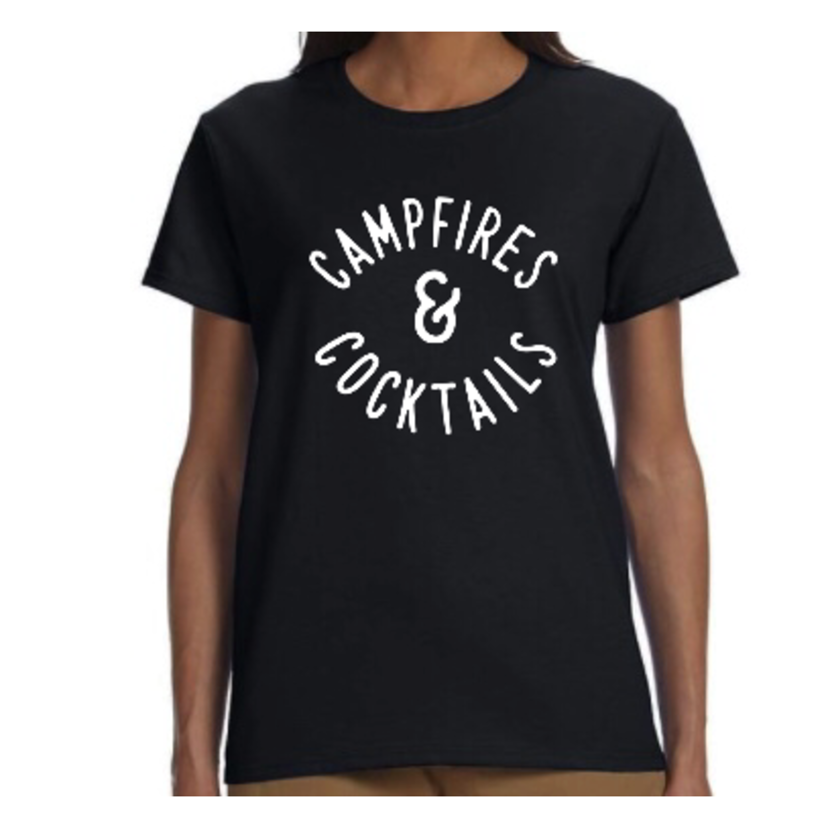 favourite things apparel Women's T-shirt: Campfires & Cocktails