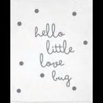Stephan Baby Hello Little Love Bug Swaddle Blanket