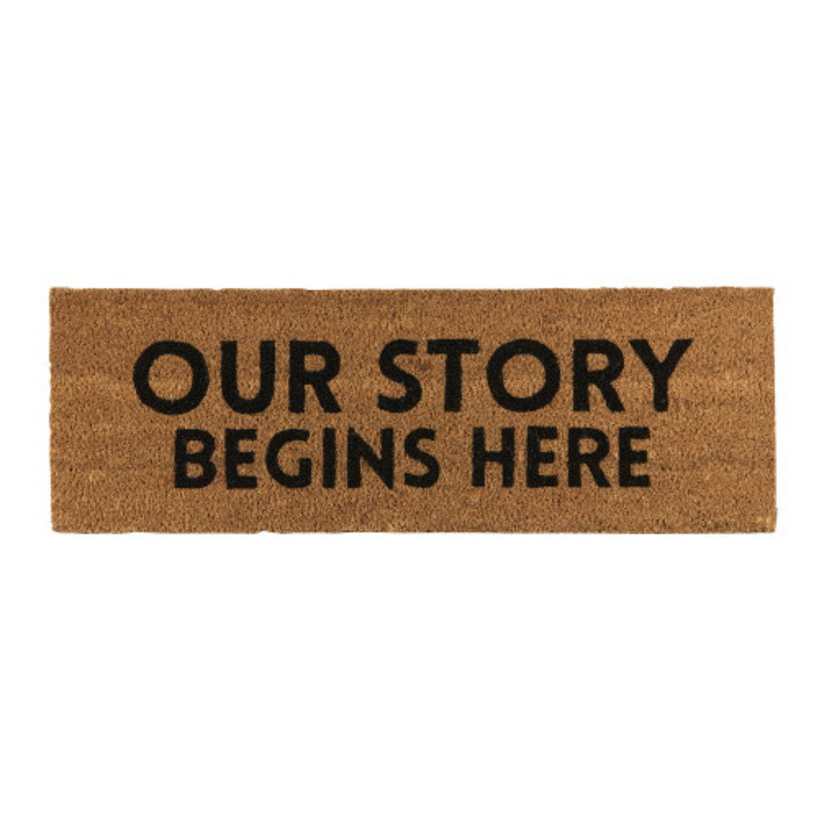 Santa Barbara Coir mat - Our Story Begins Here