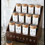 Santa Barbara Chemistry Crawler Earrings - Hydrogen (opaque grey)