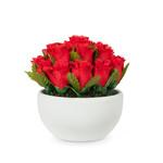 Abbott Red rose heads in bowl