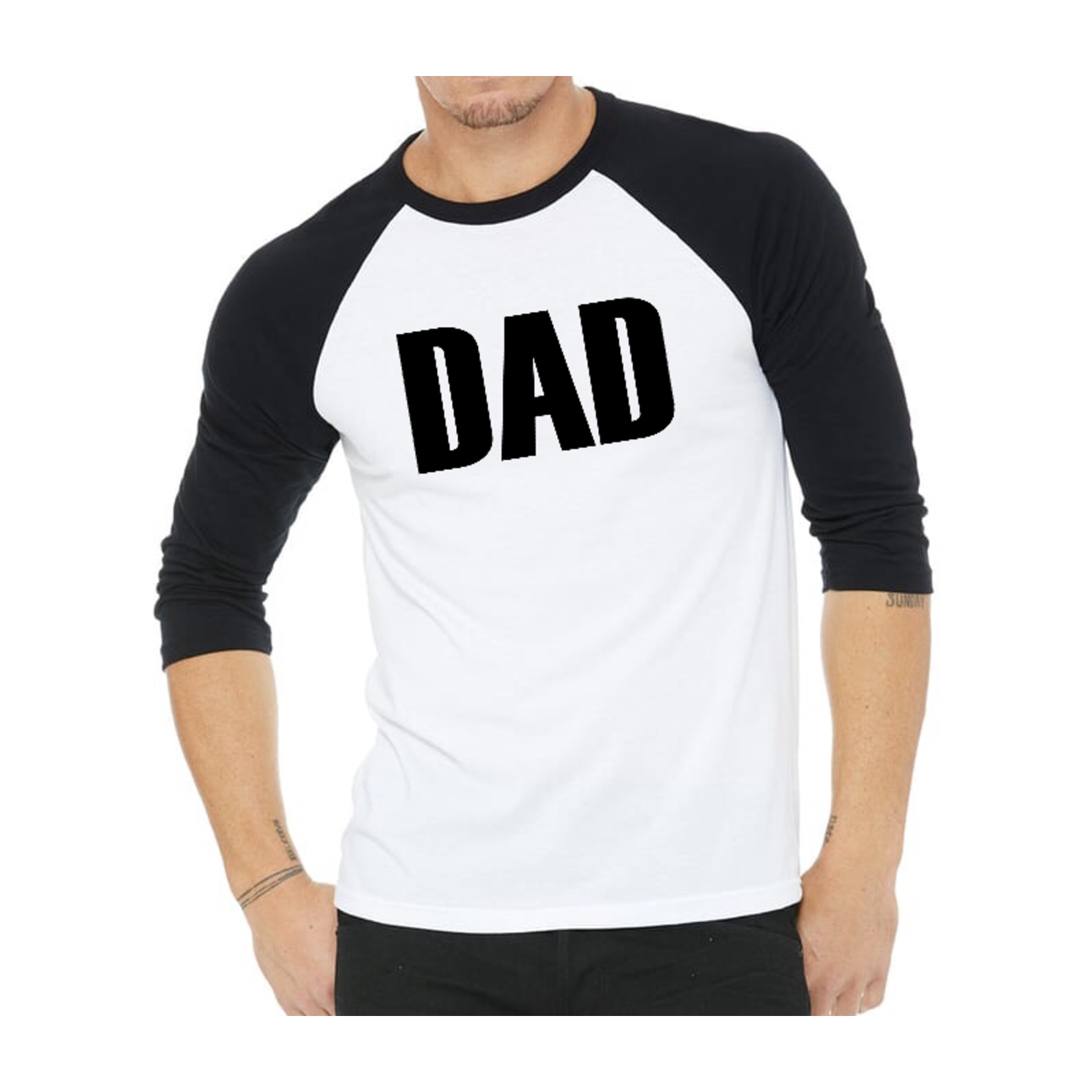 favourite things apparel Dad of # Baseball tee