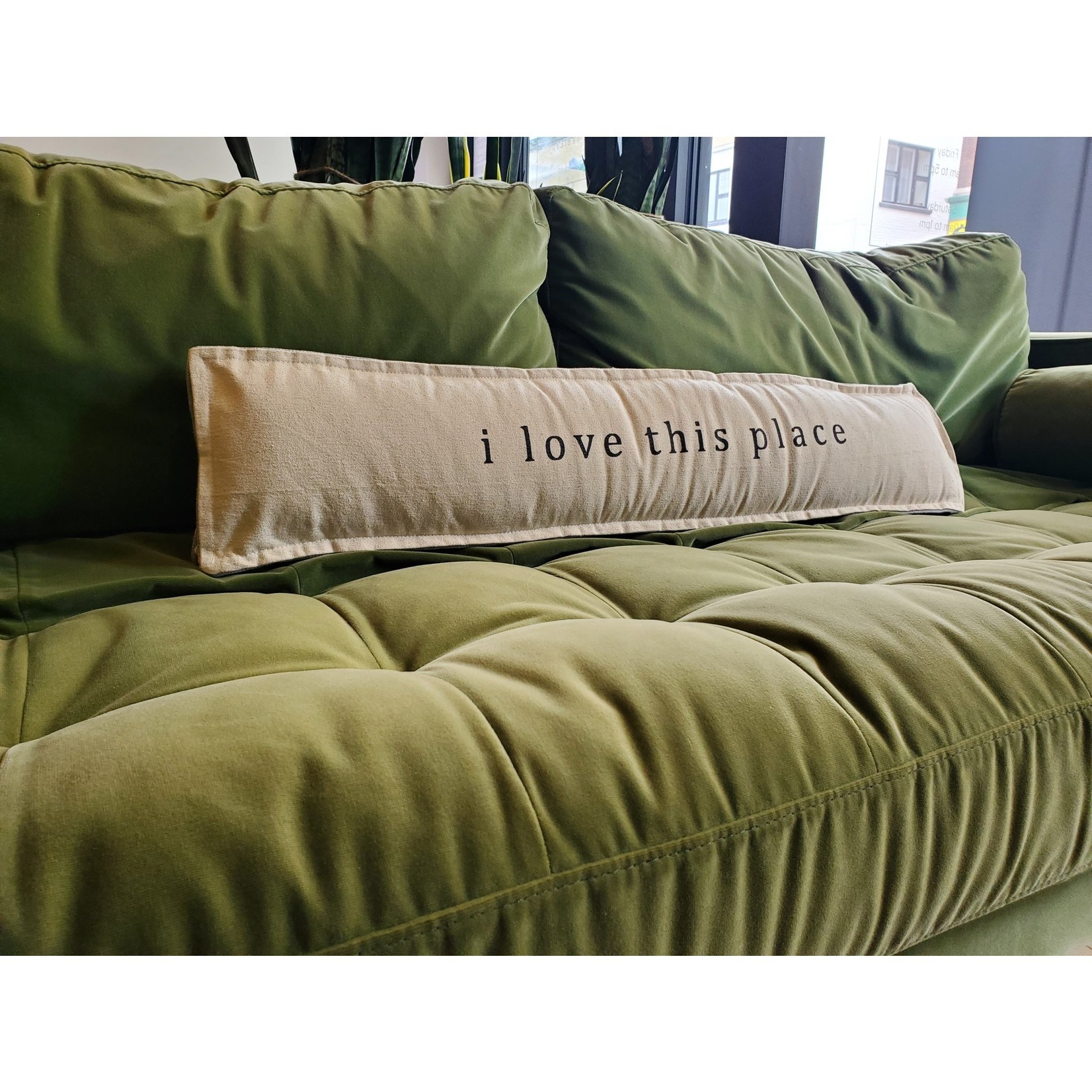 Mud Pie Long welcome pillow