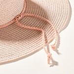 Avenue Zoe Metallic Accent Straw Hat - Pink