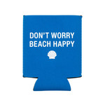 About Face Don't worry beach happy koozie