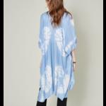 Avenue Zoe Blue tie dye kimono