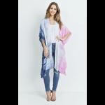 love and repeat Blue & pink tie dye kimono