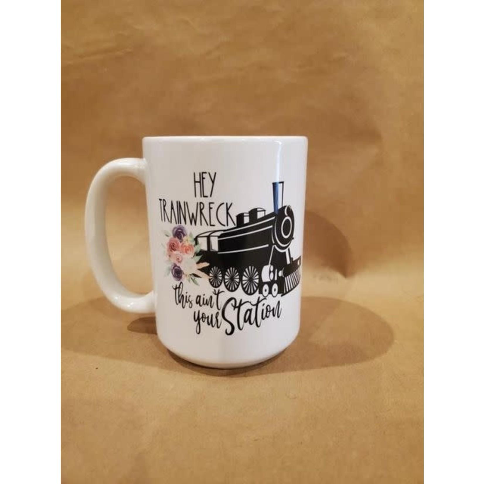Favourite Textiles Hey trainwreck mug