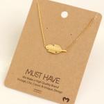 FT Pembroke Gold leaf necklace