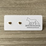 White Fox Collective WFC small gold heart studs