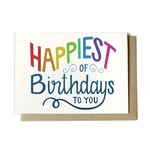 Hennel Paper Co. Happiest of Birthdays Card
