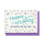 Hennel Paper Co. So Excited For You Two Wedding Card