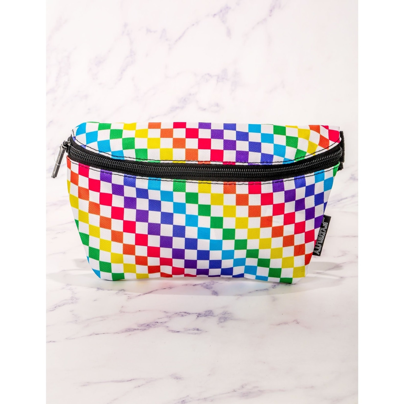 FT Pembroke Indy Rainbow Check Fanny Pack