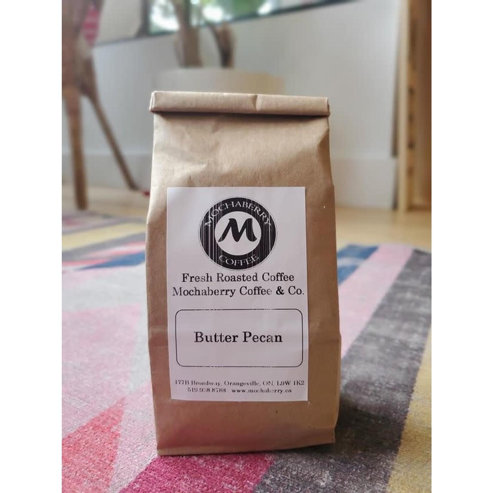 Mochaberry Coffee Co. Butter Pecan Whole Bean Coffee (8oz)