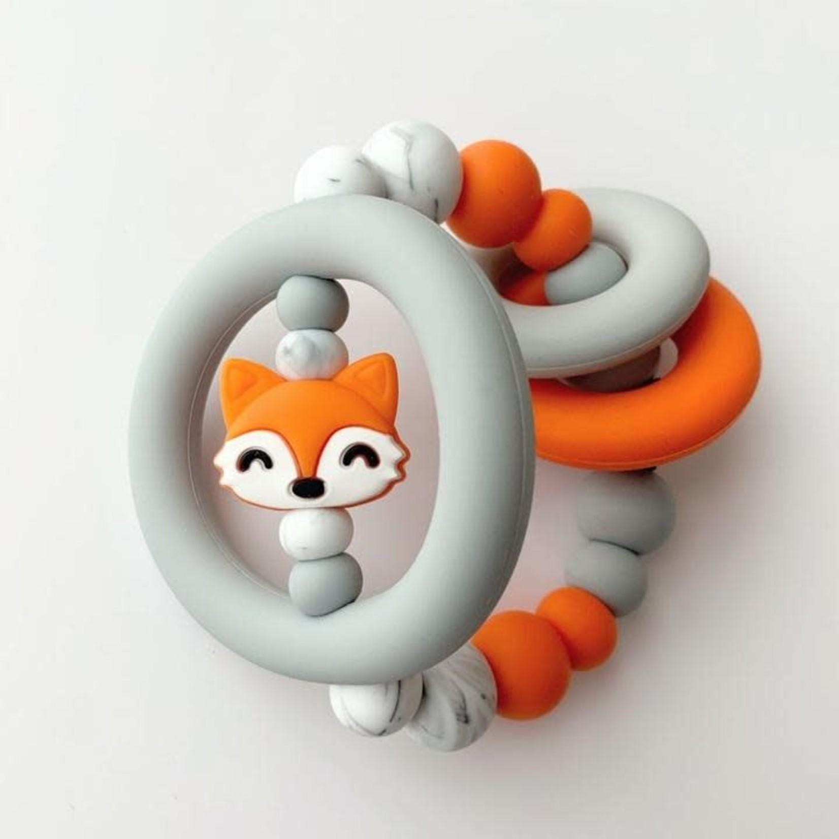 Jululu Fox rattle teething toy