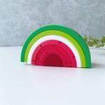 Jululu Silicone Watermelon Stacker Rainbow Toy