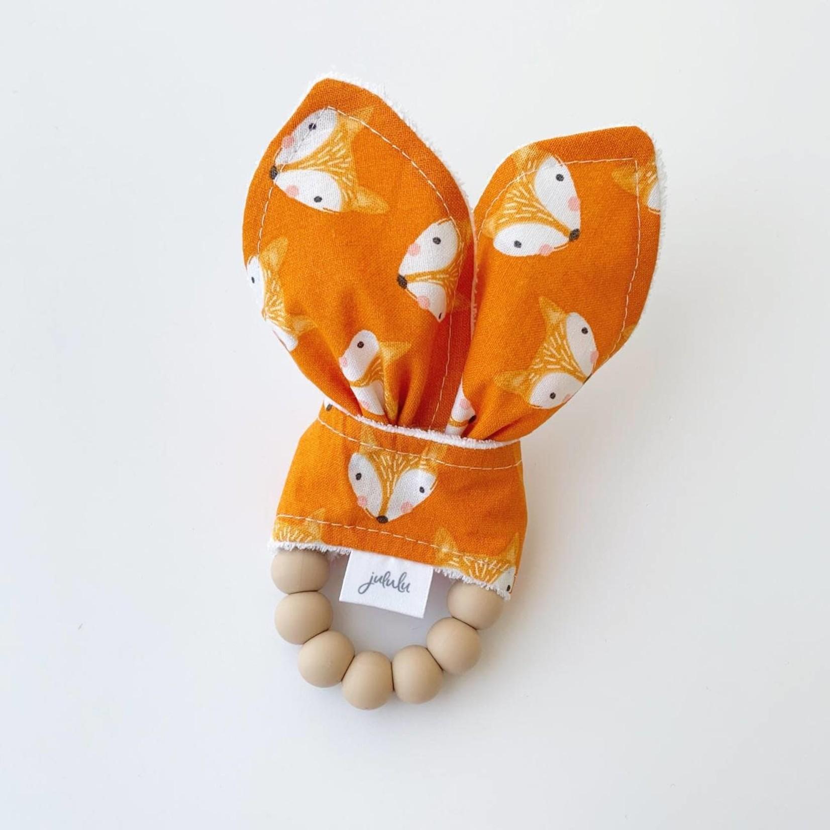 Jululu Rabbit Ears Rattle - Fox