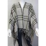 Good Stuff Apparel Women's Drape Poncho - Grey & Olive