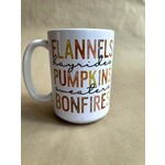 favourite things apparel Flannels, Pumpkins, Bonfires Mug