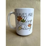 favourite things apparel Leaves are Falling, Coffee is Calling Mug