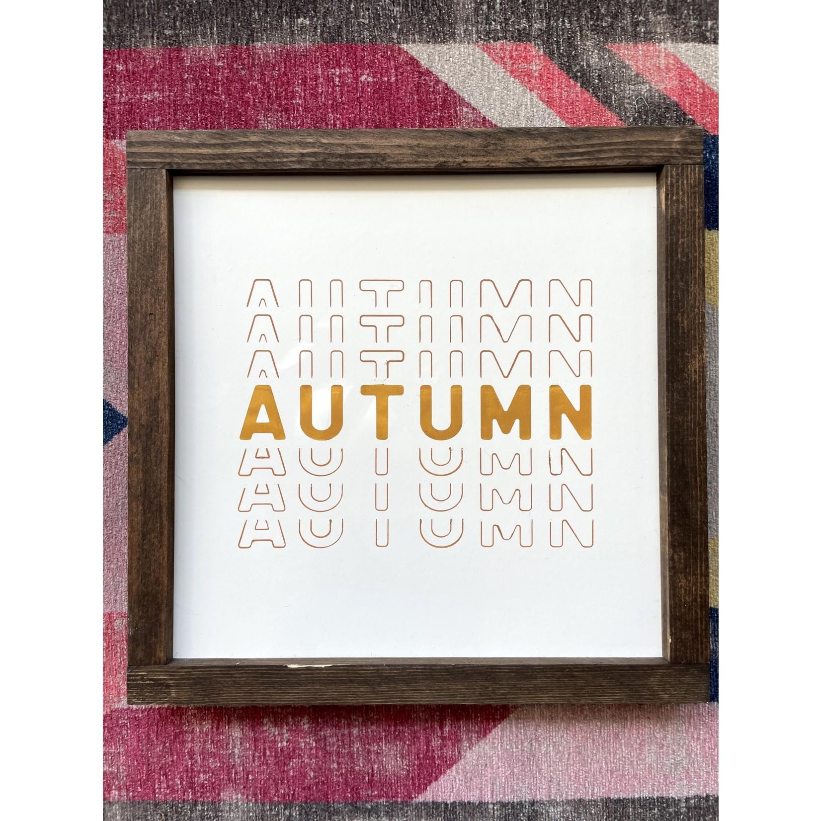 Favourite Things wood Autumn Multi 10x10