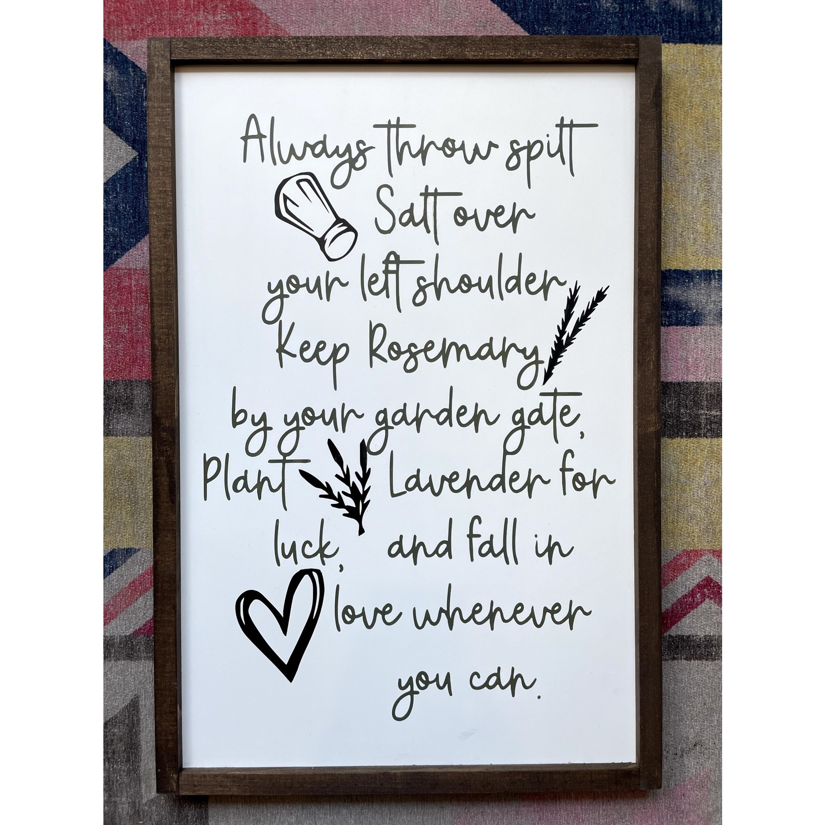 Favourite Things wood Practical Magic 16x24