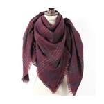 Favourite Textiles Dark Red Plaid Blanket Scarf