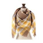Favourite Textiles Yellow Plaid Blanket Scarf
