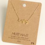 FT Pembroke Wifey gold necklace